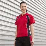 Women's jersey team polo